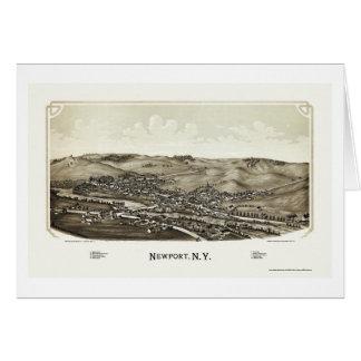 Newport, NY Panoramic Map - 1890 Card