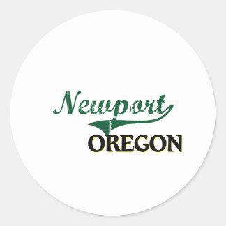 Newport Oregon Classic Design Classic Round Sticker