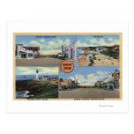 Newport, Oregon - faro de Yaquina, principal Postal