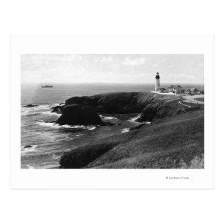 Newport, Oregon Yaquina Lighthouse View Postcard