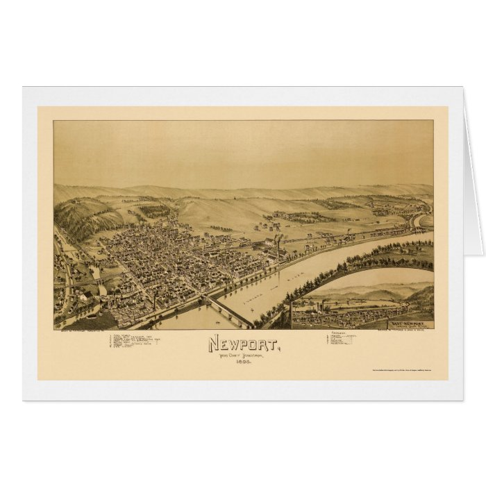 Newport, PA Panoramic Map - 1895 Card