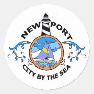 Newport Pegatina Redonda