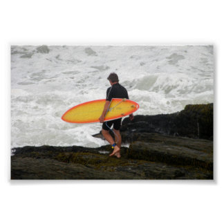 Newport que practica surf Rhode Island Poster
