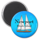 Newport Rhode Island 2 Inch Round Magnet