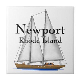 Newport Rhode Island Azulejo Cuadrado Pequeño