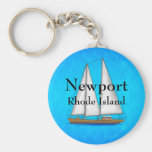 Newport Rhode Island Basic Round Button Keychain