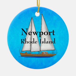 Newport Rhode Island Ceramic Ornament