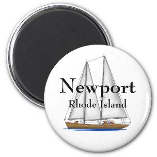 Newport Rhode Island Imán Redondo 5 Cm