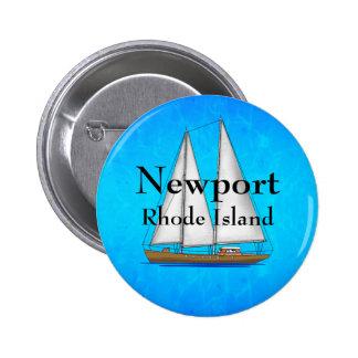Newport Rhode Island Pin Redondo 5 Cm