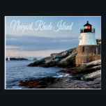 "Newport Rhode Island Sunset Lighthouse  Postcard<br><div class=""desc"">Welcome to Newport, Rhode Island... Heaven on Earth! This beautiful Newport, Rhode Island postcard features a photo of the Castle Hill Lighthouse at sunset overlooking Narragansett Bay. Travel Postcards are an economical alternative to greeting cards and can be used for many occasions such as: Vacation Souvenirs Business promotional campaigns Greeting...</div>"