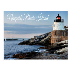 Newport Rhode Island Sunset Lighthouse  Postcard at Zazzle