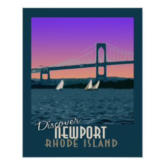 Newport Rhode Island Vintage Travel Poster