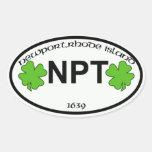 newport ri city tag oval sticker