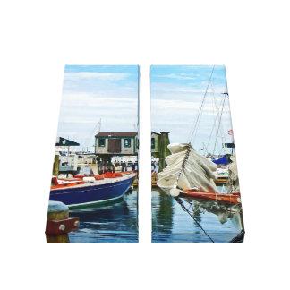 Newport RI - Folded Sails Canvas Print
