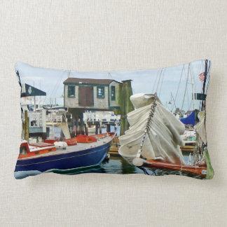Newport RI - Folded Sails Lumbar Pillow