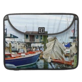 Newport RI - Folded Sails MacBook Pro Sleeve