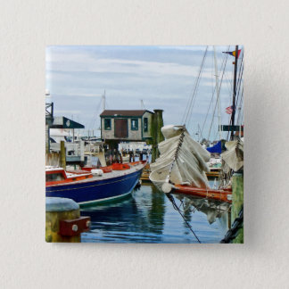 Newport RI - Folded Sails Pinback Button