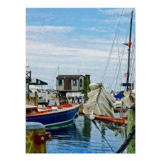 Newport RI - Folded Sails Poster