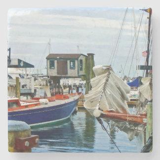Newport RI - Folded Sails Stone Coaster