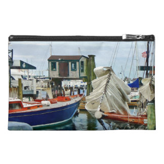 Newport RI - Folded Sails Travel Accessory Bag