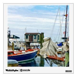 Newport RI - Folded Sails Wall Decal