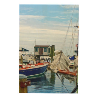 Newport RI - Folded Sails Wood Wall Art