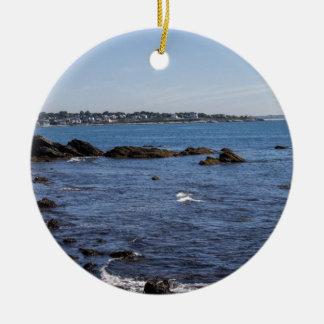 newport ri ocean view ceramic ornament