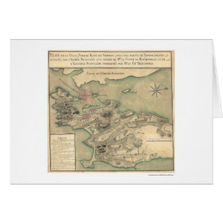 Newport, RI Revolutionary Map 1780 Cards