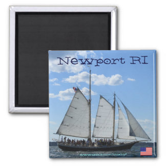 Newport RI sailing ship cool magnet design
