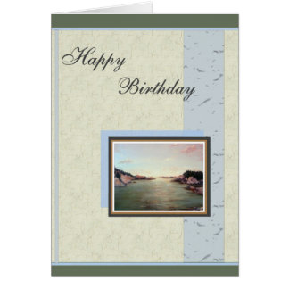 Newport Seascape Ocean Birthday Greeting Card