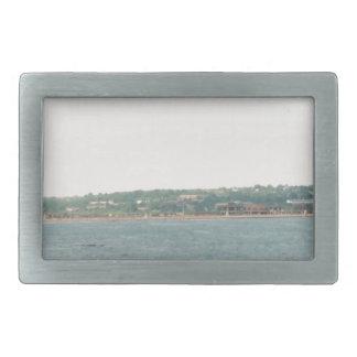 Newport shoreline rectangular belt buckle