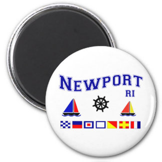 Newport Signal Flags 2 Inch Round Magnet