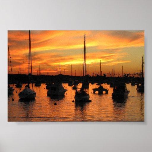 Newport Sunset Poster