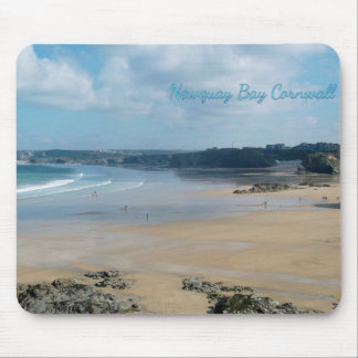 Newquay Bay Beaches Cornwall England Mouse Pad