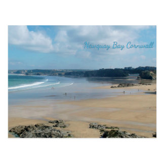 Newquay Bay Beaches Cornwall England Postcard