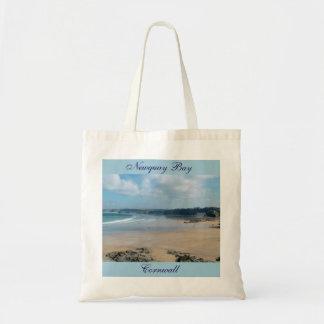 Newquay Bay Beaches Cornwall England Tote Bag