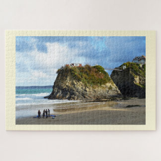 Newquay beach in Cornwall Jigsaw Puzzle