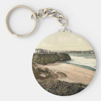 Newquay, from East, Cornwall, England classic Phot Key Chains