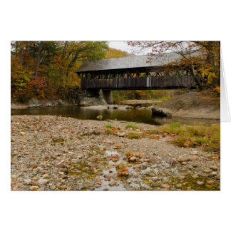 Newry Covered Bridge over river in autumn Card