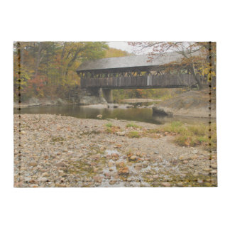 Newry Covered Bridge over river in autumn Tyvek® Card Case Wallet