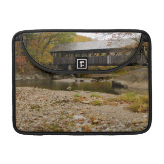 Newry Covered Bridge over river in autumn MacBook Pro Sleeve