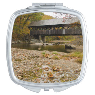 Newry Covered Bridge over river in autumn Mirror For Makeup