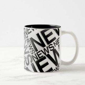 NEWS B&W Two-Tone COFFEE MUG