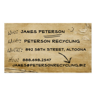 News Biz Recycled Business Card Template