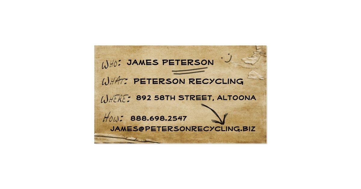 News Biz Recycled Business Card