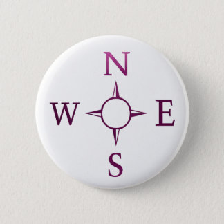 NEWS : Compass North East West South Pinback Button