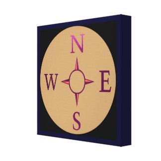 NEWS East West North South Compass Canvas Print