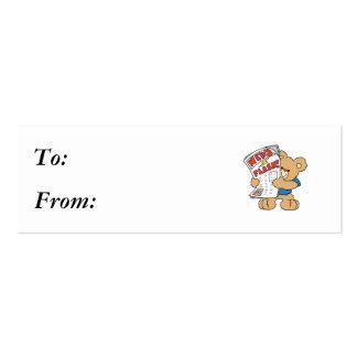 News Flash Teddy Bear Business Card Template