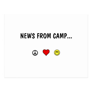 News From Camp ... Postcard