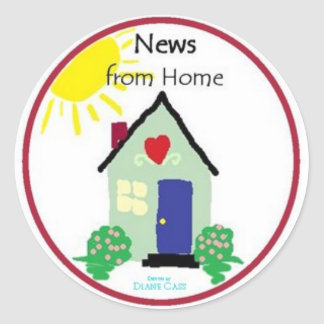 News From Home Stickers